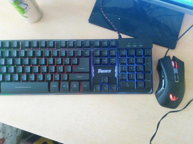 Tigoes K9 Gaming Klavye , EVEREST DLM-355 GAMING MOUSE