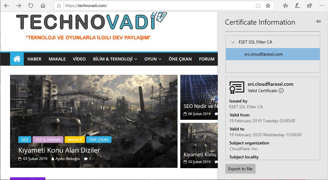 Bedava Cloudflare SSL - Technovadi