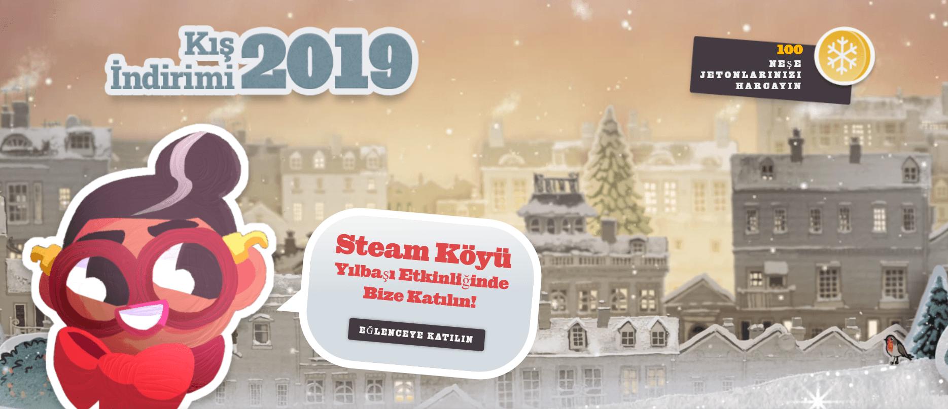Steam Köyü Yılbaşı Etkinliği Nedir ? Neşe Jetonları Kazanma